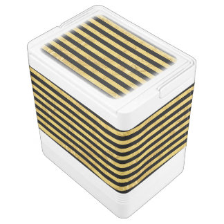 Elegant Gold Foil and Black Stripe Pattern