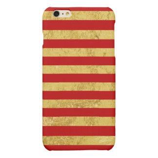 Elegant Gold Foil and Red Stripe Pattern