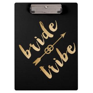 elegant gold foil bride tribe arrow wedding rings clipboards
