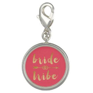 elegant gold foil bride tribe arrow wedding rings photo charm