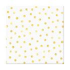 Elegant Gold Foil Confetti Dots Canvas Print