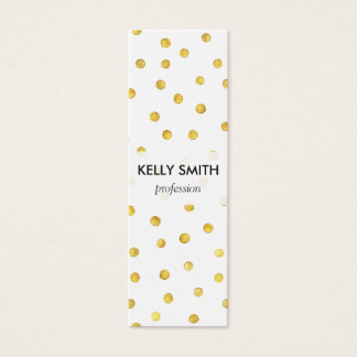 Elegant Gold Foil Confetti Dots Mini Business Card