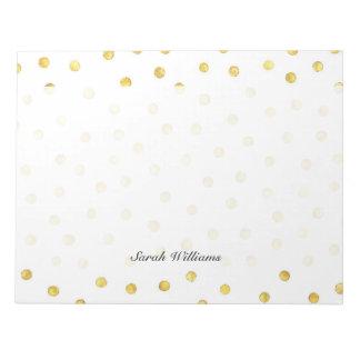 Elegant Gold Foil Confetti Dots Notepads