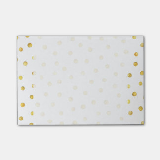 Elegant Gold Foil Confetti Dots Post-it® Notes