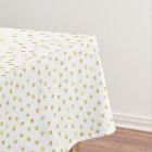 Elegant Gold Foil Confetti Dots Tablecloth