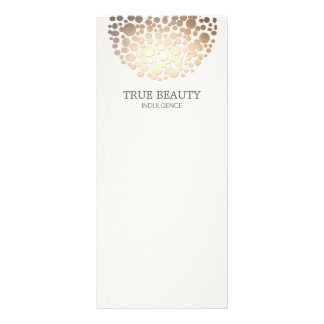 Elegant Gold Foil Look Circles Off White Rack Card