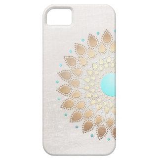 Elegant Gold Foil Look Lotus Flower iPhone 5 Cover