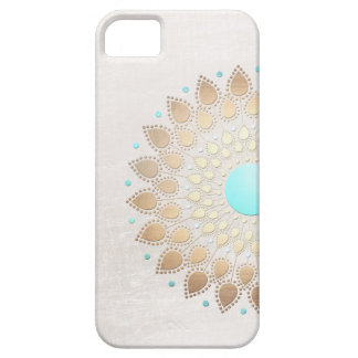 Elegant Gold Foil Look Lotus Flower iPhone 5 Case