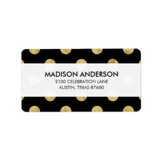 Elegant Gold Foil Polka Dot Pattern - Gold & Black
