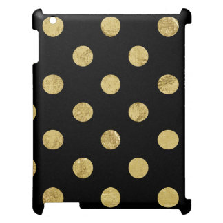 Elegant Gold Foil Polka Dot Pattern - Gold & Black Case For The iPad 2 3 4