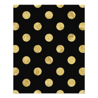 Elegant Gold Foil Polka Dot Pattern - Gold & Black Flyer