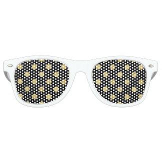 Elegant Gold Foil Polka Dot Pattern - Gold & Black Party Shades