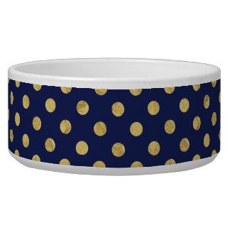 Elegant Gold Foil Polka Dot Pattern - Gold & Blue