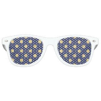 Elegant Gold Foil Polka Dot Pattern - Gold & Blue Party Shades