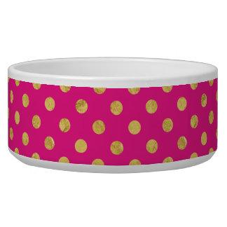 Elegant Gold Foil Polka Dot Pattern - Gold & Pink