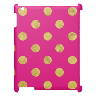 Elegant Gold Foil Polka Dot Pattern - Gold & Pink Cover For The iPad 2 3 4
