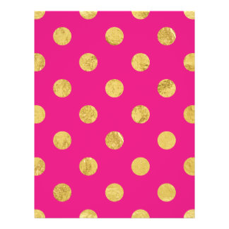 Elegant Gold Foil Polka Dot Pattern - Gold & Pink Flyer
