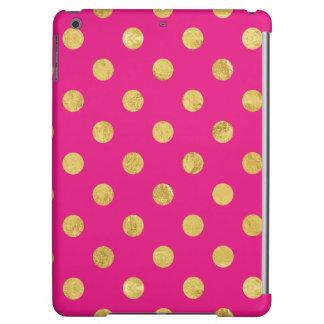 Elegant Gold Foil Polka Dot Pattern - Gold & Pink iPad Air Case
