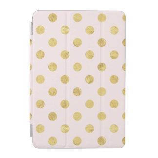 Elegant Gold Foil Polka Dot Pattern - Gold & Pink iPad Mini Cover