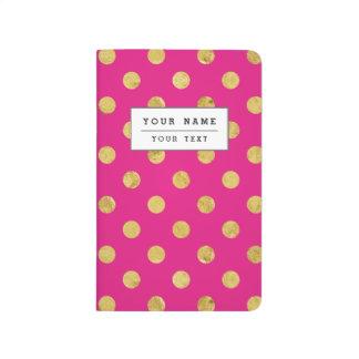 Elegant Gold Foil Polka Dot Pattern - Gold & Pink Journal