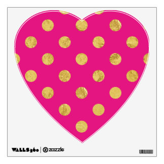 Elegant Gold Foil Polka Dot Pattern - Gold & Pink Wall Decal