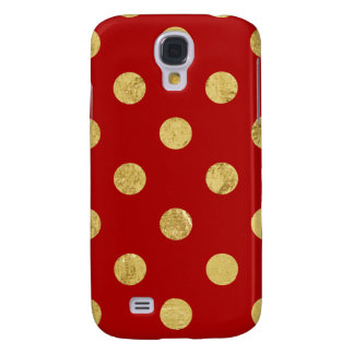 Elegant Gold Foil Polka Dot Pattern - Gold & Red