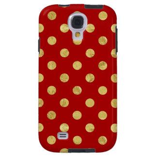 Elegant Gold Foil Polka Dot Pattern - Gold & Red