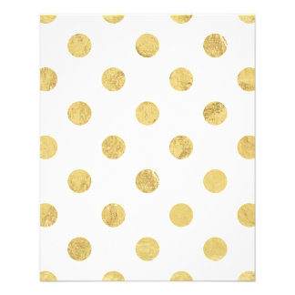 Elegant Gold Foil Polka Dot Pattern - Gold & White Flyer