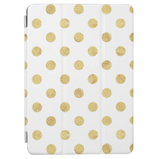 Elegant Gold Foil Polka Dot Pattern - Gold & White iPad Air Cover