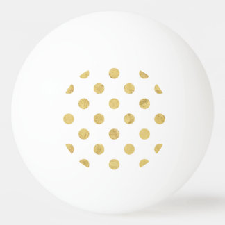 Elegant Gold Foil Polka Dot Pattern - Gold & White Ping Pong Ball