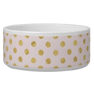 Elegant Gold Foil Polka Dot Pattern - Pink & Gold