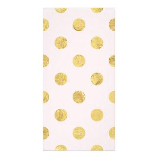 Elegant Gold Foil Polka Dot Pattern - Pink & Gold Card