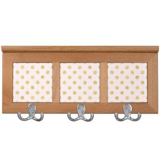 Elegant Gold Foil Polka Dot Pattern - Pink & Gold Coat Racks