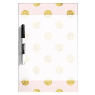 Elegant Gold Foil Polka Dot Pattern - Pink & Gold Dry Erase Board
