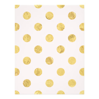 Elegant Gold Foil Polka Dot Pattern - Pink & Gold Flyer
