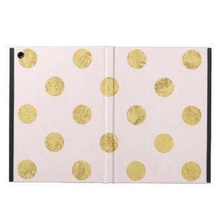 Elegant Gold Foil Polka Dot Pattern - Pink & Gold iPad Air Cover