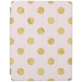 Elegant Gold Foil Polka Dot Pattern - Pink & Gold iPad Cover