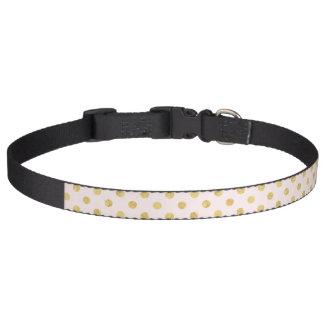 Elegant Gold Foil Polka Dot Pattern - Pink & Gold Pet Collar