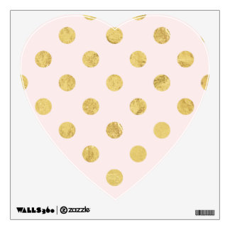 Elegant Gold Foil Polka Dot Pattern - Pink & Gold Wall Decal