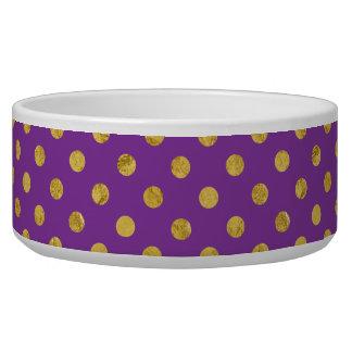 Elegant Gold Foil Polka Dot Pattern - Purple