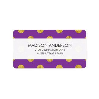 Elegant Gold Foil Polka Dot Pattern - Purple