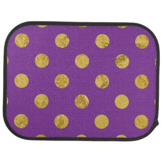 Elegant Gold Foil Polka Dot Pattern - Purple Auto Mat