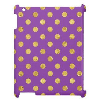 Elegant Gold Foil Polka Dot Pattern - Purple Case For The iPad 2 3 4