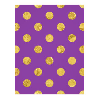 Elegant Gold Foil Polka Dot Pattern - Purple Flyer