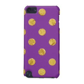 Elegant Gold Foil Polka Dot Pattern - Purple iPod Touch 5G Case