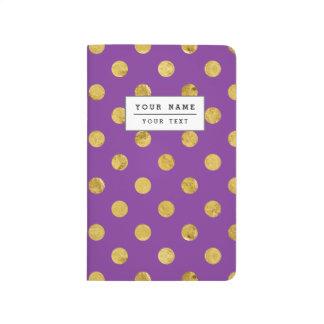 Elegant Gold Foil Polka Dot Pattern - Purple Journal