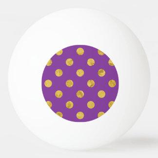 Elegant Gold Foil Polka Dot Pattern - Purple Ping Pong Ball