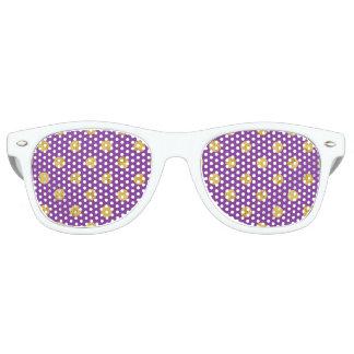 Elegant Gold Foil Polka Dot Pattern - Purple Sunglasses