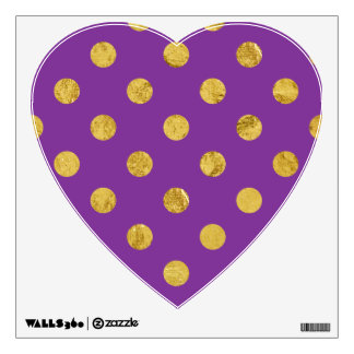 Elegant Gold Foil Polka Dot Pattern - Purple Wall Sticker