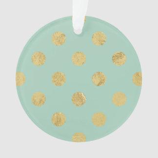Elegant Gold Foil Polka Dot Pattern - Teal Gold